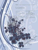 blom- modernt för bakgrund vektor illustrationer