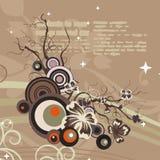 blom- modernt för bakgrund stock illustrationer