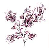 Blom- motivdesign för vattenfärg Fotografering för Bildbyråer