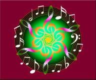 blom- musik Arkivfoto
