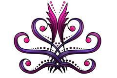 Blom- och dekorativ bakgrund Fotografering för Bildbyråer