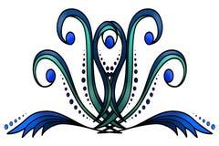 Blom- och dekorativ bakgrund Royaltyfria Foton