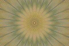 Blom- olivgr?n kalejdoskop f?r Mandalamodell keramiskt hypnotiskt stock illustrationer