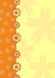 blom- orange för bakgrund Vektor Illustrationer