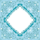 blom- orientalisk dekorativ stil för kort Royaltyfri Fotografi