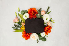 Blom- orientering med kopieringsutrymme Royaltyfria Foton