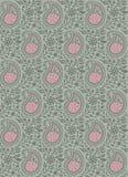 Blom- paisley för sömlös tappning modell vektor illustrationer