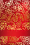 Blom- paisley kortdesign Royaltyfri Bild