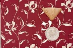 blom- paper röd skyddsremsa Arkivfoto