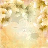Blom- pappers- bakgrund för Grunge Royaltyfri Foto