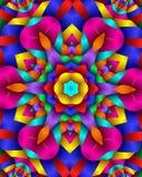 Blom- partiwallpaper för neon royaltyfri fotografi