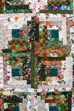 Blom- patchwork Arkivfoto