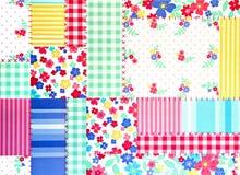 Blom- patchworkbakgrund Arkivbilder