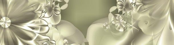 blom- pearly kupor för baner Arkivfoton