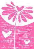 blom- pink för bakgrund Arkivfoto