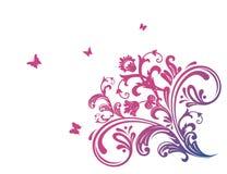 blom- pink för fjäril Arkivfoto