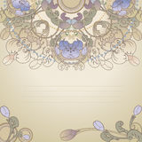blom- poatcard Royaltyfri Bild