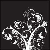 blom- prydnad stock illustrationer