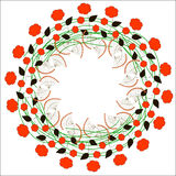 1 blom- prydnad stock illustrationer