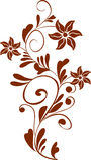 blom- prydnad Fotografering för Bildbyråer