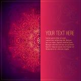 Blom- prydnad för abstrakt vektorcirkel lace stock illustrationer