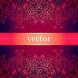Blom- prydnad för abstrakt vektorcirkel lace vektor illustrationer