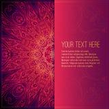 Blom- prydnad för abstrakt vektorcirkel lace royaltyfri illustrationer