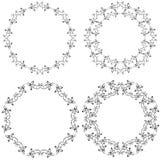 blom- prydnad för cirkel Fotografering för Bildbyråer