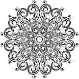 Blom- prydnad för cirkel. Arkivfoton