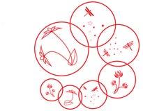 Blom- prydnad för diagram Arkivbild