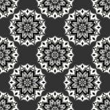 Blom- prydnad för hög detalj Monokrom härlig sömlös modell också vektor för coreldrawillustration Royaltyfri Fotografi