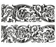 Blom- prydnad för tappning Arkivfoto