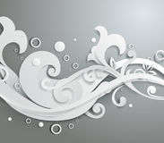 Blom- prydnad för vektor 3d Royaltyfri Foto