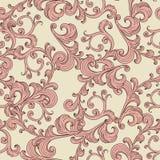Blom- prydnad för sömlös romantisk bakgrund Arkivbild