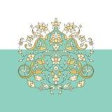 Blom- prydnad i orientalisk stil Arkivbild