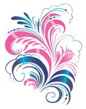 Blom- prydnad, snirkelblommablad, inristad prydnad, blom- modell, prydnad, dekorativ design, illustration stock illustrationer