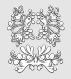 blom- prydnadar stock illustrationer