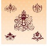 blom- prydnadar royaltyfri illustrationer