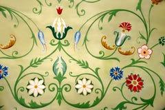 Blom- prydnader i Tsarina's kammare Zvenigorod Ryssland Arkivfoto