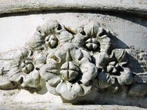 Blom- prydnader på väggen Fotografering för Bildbyråer