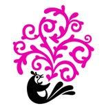blom- prydnadtappning royaltyfri illustrationer