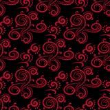 blom- prydnadtappning för dekorativa element Svart och röda sömlösa modeller för tyg och tapet royaltyfri illustrationer
