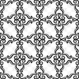 blom- prydnadtappning för dekorativa element Svartvita sömlösa modeller för tyg och tapet vektor illustrationer