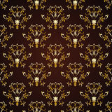 blom- prydnadwallpaper Arkivfoto