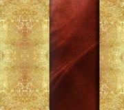 Blom- röd texturerad bakgrund med guld- bespruta Royaltyfria Foton