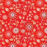 blom- röda prövkopior Stock Illustrationer