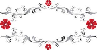 blom- ram Arkivbild