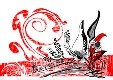 blom- ram Vektor Illustrationer