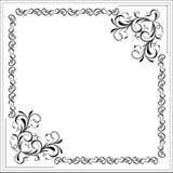 blom- ram för blank kant stock illustrationer