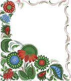 blom- ram för dekor stock illustrationer